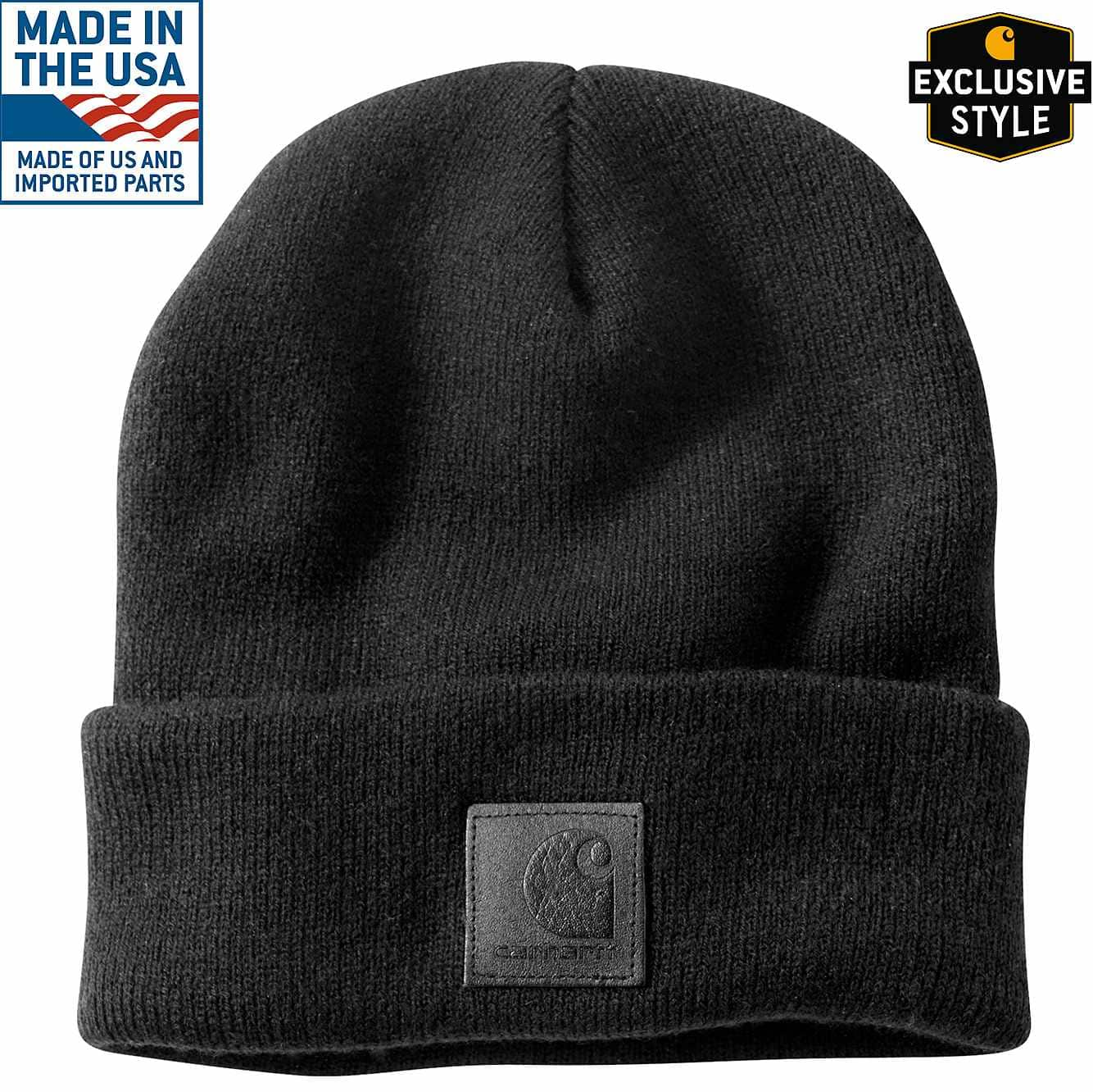 Picture of Black Label Watch Hat in Black