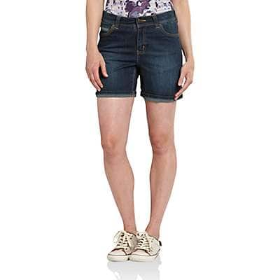 Carhartt Women's True Blue Indigo Sibley Denim Short - front