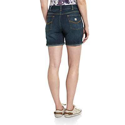Carhartt Women's True Blue Indigo Sibley Denim Short - back