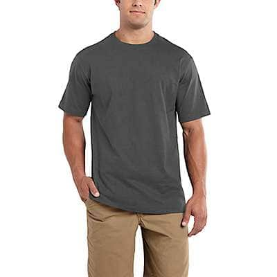 Carhartt Men's Indigo Heather Maddock Non-Pocket Short-Sleeve T-Shirt - front