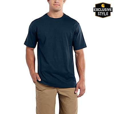 Carhartt Men's Indigo Heather Maddock Non-Pocket Short-Sleeve T-Shirt - front