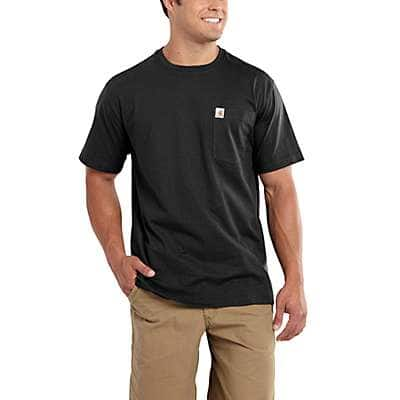Carhartt Men's Indigo Heather Maddock Pocket Short-Sleeve T-Shirt - front