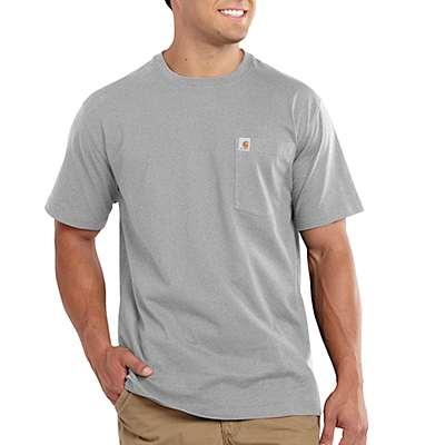 Carhartt Men's Indigo Heather Maddock Pocket Short-Sleeve T-Shirt - front