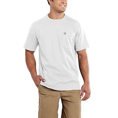 Carhartt Men's White Maddock Pocket Short-Sleeve T-Shirt - front