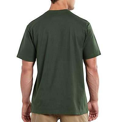 Carhartt Men's Indigo Heather Maddock Pocket Short-Sleeve T-Shirt - back