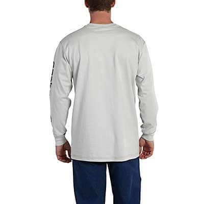 Carhartt Men's Light Gray Flame-Resistant Carhartt Force® Graphic Long-Sleeve T-Shirt - back