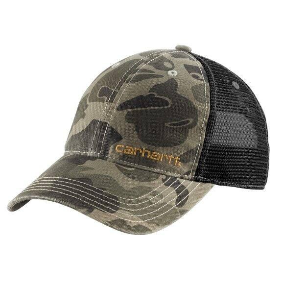 New Carhartt Buffalo Sandstone Mesh Burnt Olive Mens Snapback Trucker Hat Cap