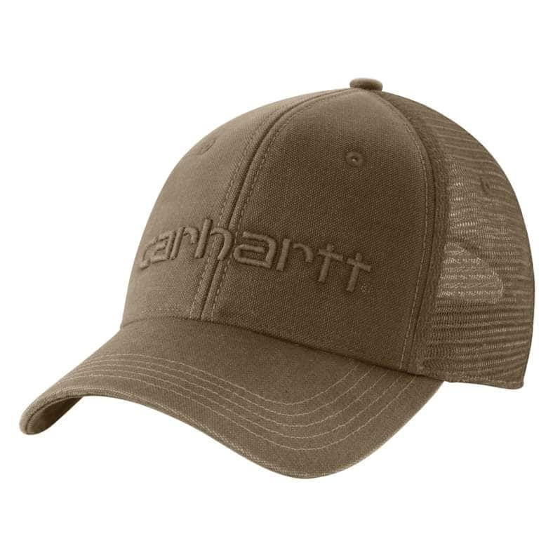 Carhartt  Light Brown Canvas Mesh-Back Logo Graphic Cap