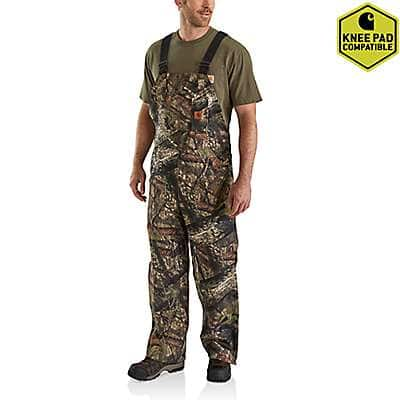 Carhartt Men's Mossy Oak Break-Up Country Quilt Lined Camo Bib Overalls - front