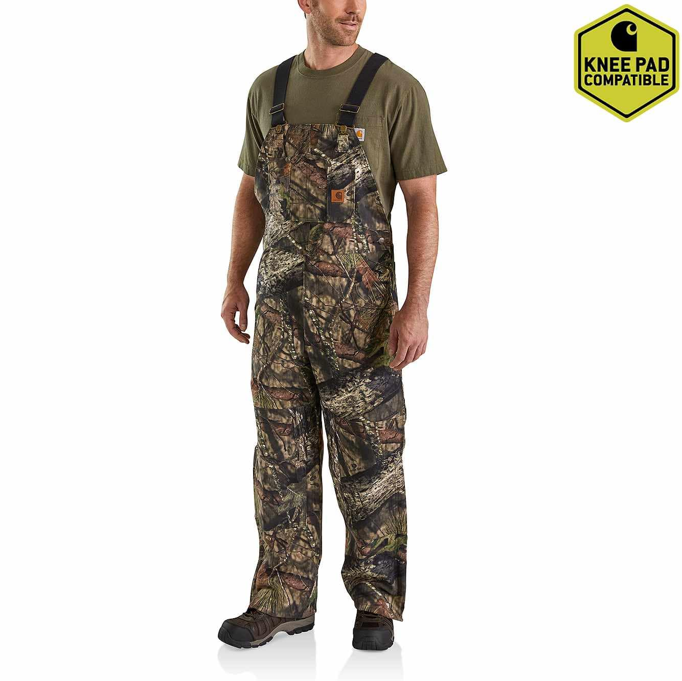 Picture of Quilt Lined Camo Bib Overalls in Mossy Oak Break-Up Country