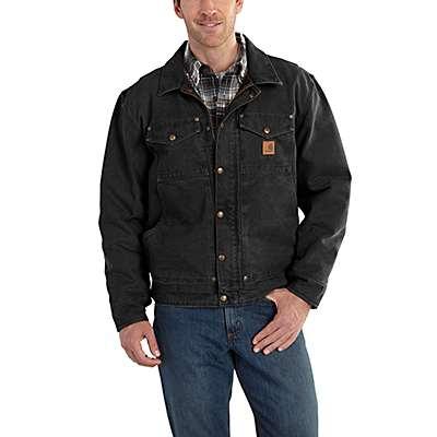 Carhartt Men's Black Berwick Fleece-Lined Jacket - front