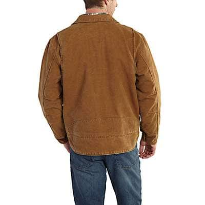 Carhartt Men's Black Berwick Fleece-Lined Jacket - back