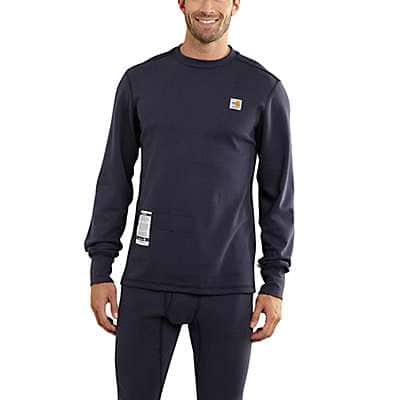 Carhartt  Dark Navy Flame-Resistant Base Force® Cold Weather Crewneck - front