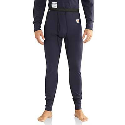 Carhartt  Dark Navy Flame-Resistant Base Force® Cold Weather Bottom - front