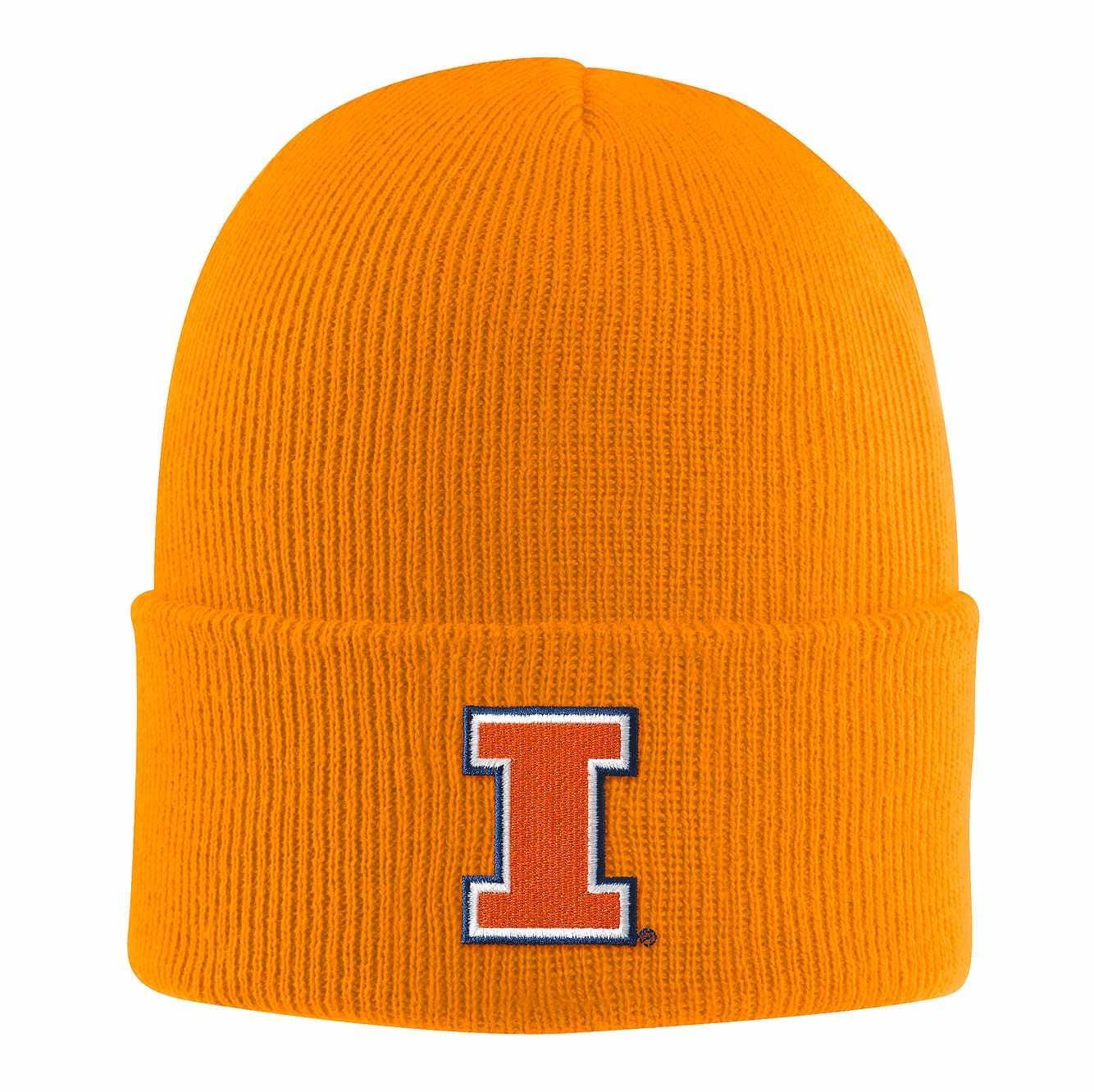 Picture of Illinois Acrylic Watch Hat 1 in Solar Orange