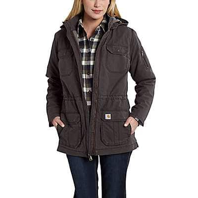 Carhartt Women's Dark Shale Gallatin Coat - front