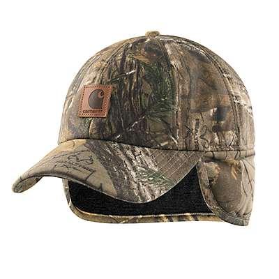 Carhartt  Mossy Oak Camo Ear Flap Cap - front