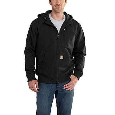 Carhartt Men's Black Quick Duck ® Jefferson Active Jac - front
