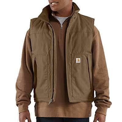 Carhartt Men's Canyon Brown Quick Duck ® Jefferson Vest - front