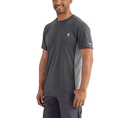 Carhartt Men's Shadow/Asphalt Force Extremes® Short Sleeve T-Shirt - front