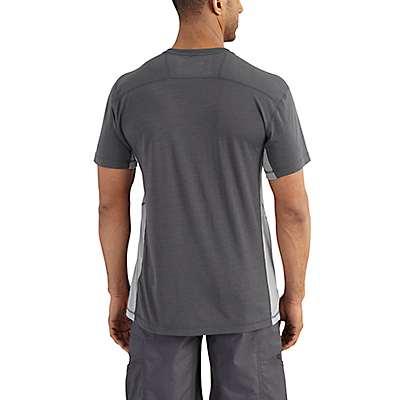 Carhartt Men's Shadow/Asphalt Force Extremes® Short Sleeve T-Shirt - back