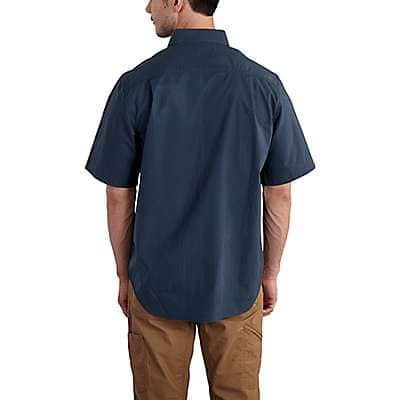 Carhartt Men's Dark Khaki Foreman Solid Short-Sleeve Work Shirt - back