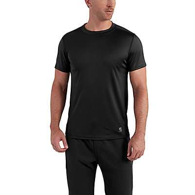 Carhartt Men's Black Carhartt Base Force Extremes® Lightweight Short-Sleeve T-Shirt - front
