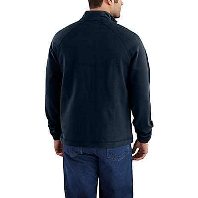 Carhartt Men's Dark Navy Flame-Resistant Force Fleece Quarter-Zip - back