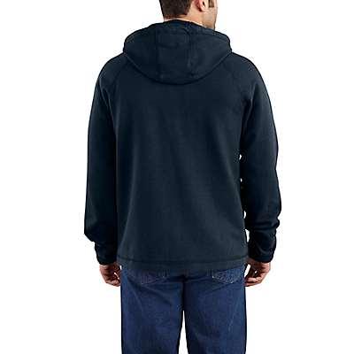 Carhartt  Dark Navy Flame-Resistant Carhartt Force® Hooded Full-Zip Fleece - back