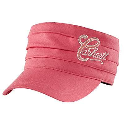 Carhartt Women's Geranium Coral Heather Everton Cap - front