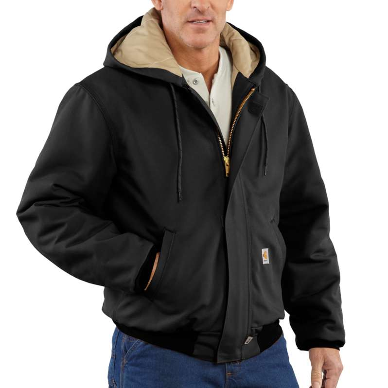 Carhartt  Black Flame-Resistant Duck Active Jac/Quilt-Lined