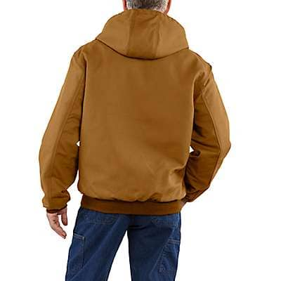 Carhartt Men's Carhartt Brown Flame-Resistant Midweight Active Jac/Quilt-Lined - back