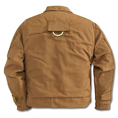 Carhartt Men's Carhartt Brown Flame-Resistant Lanyard Access Jacket/Quilt-Lined - back