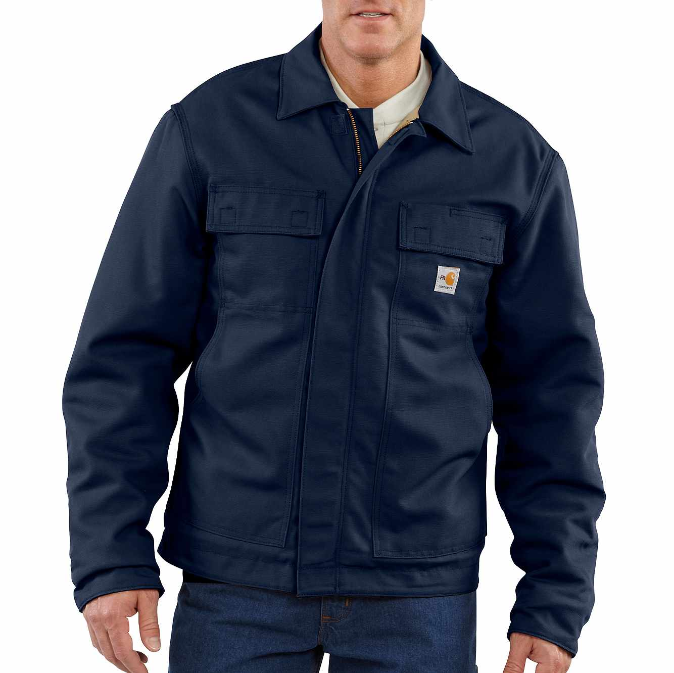 Picture of Flame-Resistant Lanyard Access Jacket/Quilt-Lined in Dark Navy