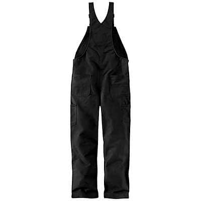 Carhartt Men's Black Flame-Resistant Duck Bib Overall/Quilt-Lined - back