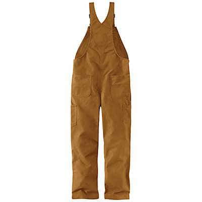 Carhartt  Black Flame-Resistant Duck Bib Overall/Quilt-Lined - back