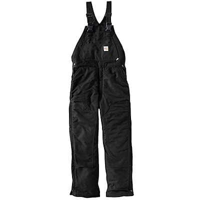 Carhartt Men's Black Flame-Resistant Duck Bib Overall/Unlined - front