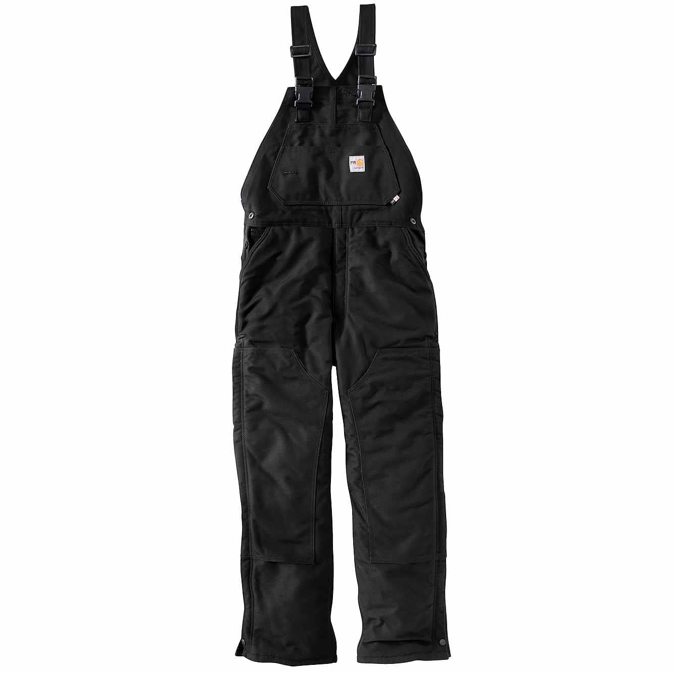 Picture of Flame-Resistant Duck Bib Overall/Unlined in Black
