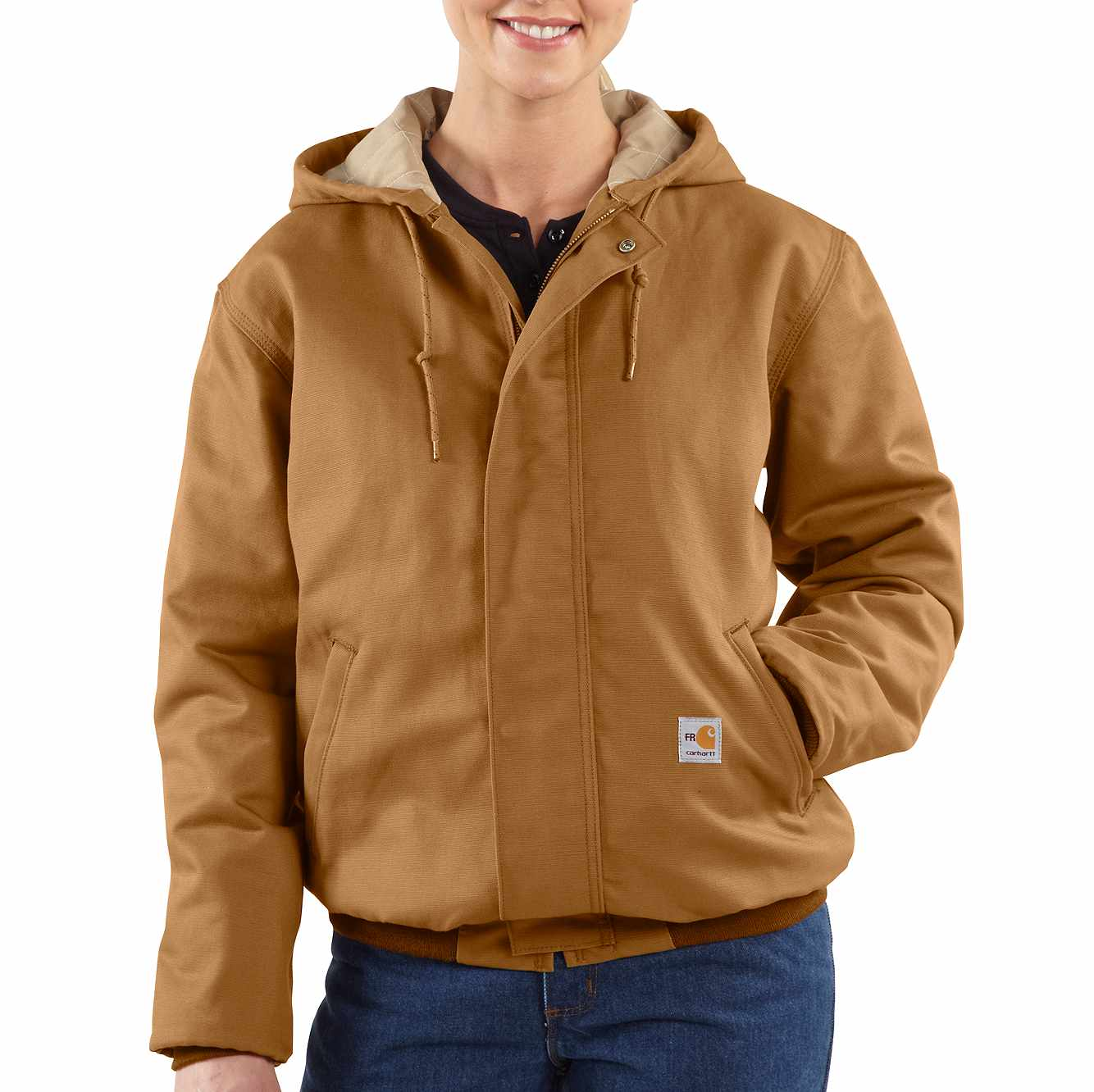 Picture of Flame-Resistant Midweight Canvas Active Jac in Carhartt Brown