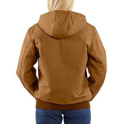 Carhartt Women's Carhartt Brown Flame-Resistant Midweight Canvas Active Jac - back