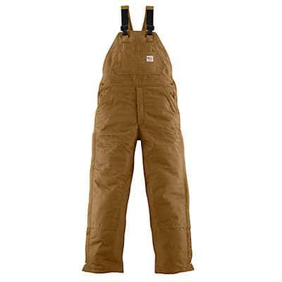 Carhartt Men's Carhartt Brown Flame-Resistant Midweight Bib Overall/Quilt-Lined - front