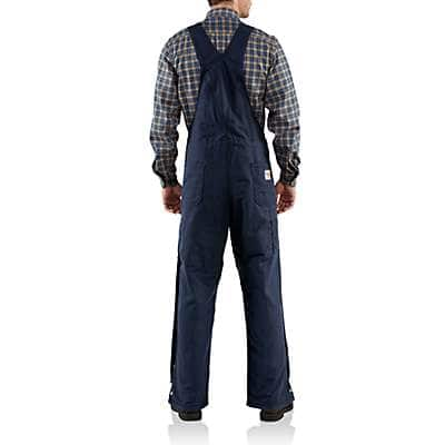 Carhartt Men's Carhartt Brown Flame-Resistant Midweight Bib Overall/Quilt-Lined - back