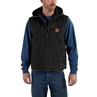 Carhartt Men's Shadow Fleece-Lined Knoxville Hooded Vest - front