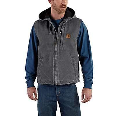 Carhartt Men's Shadow Fleece-Lined Knoxville Hooded Vest - front