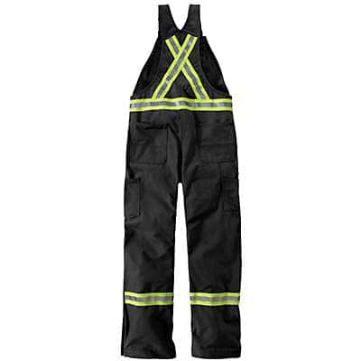 Carhartt Men's Royal Flame-Resistant Striped Duck Bib Overall/Unlined - back