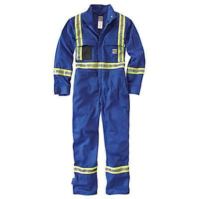 Carhartt Men's Royal Flame-Resistant Striped Coverall - front