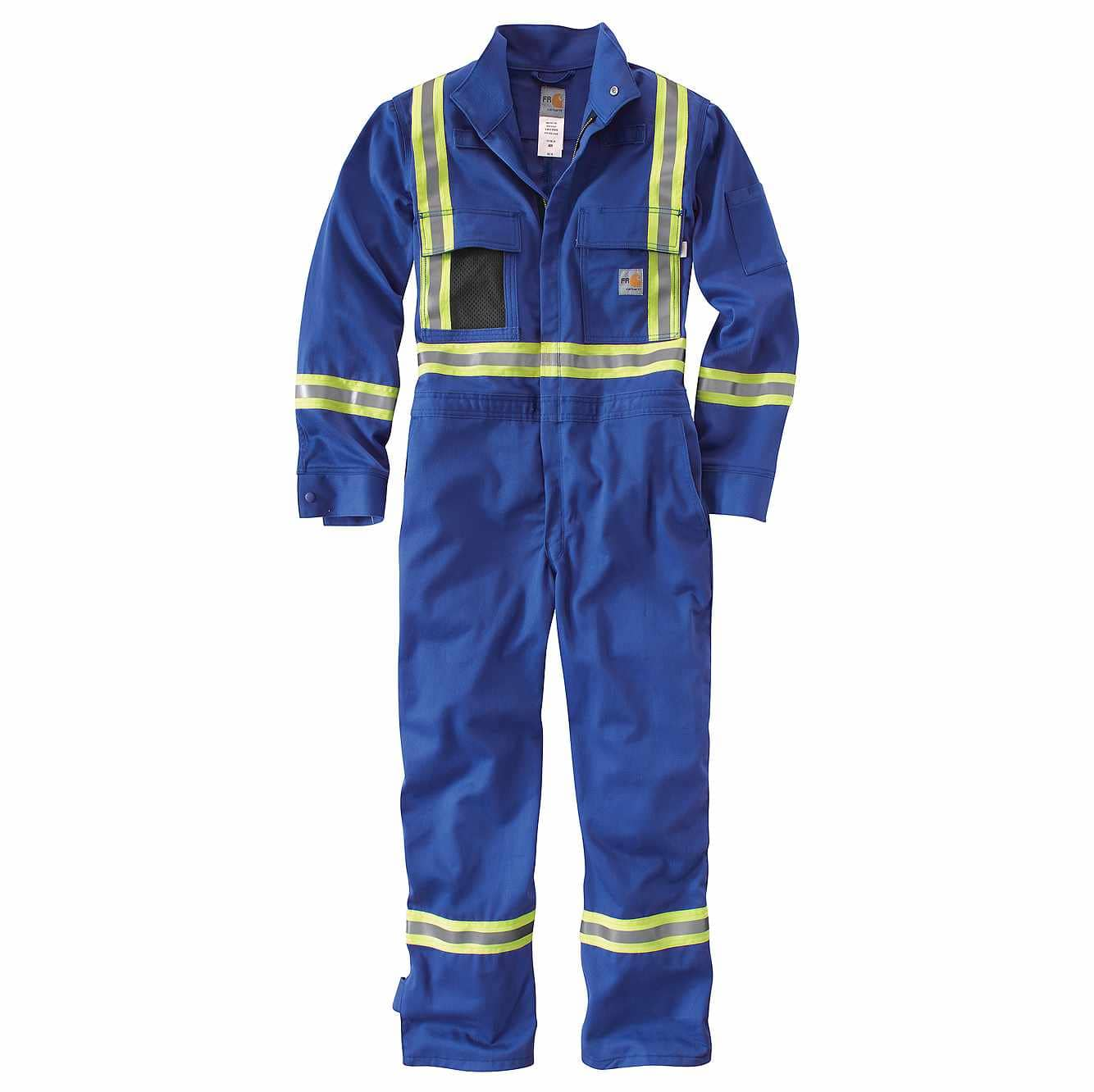 Picture of Flame-Resistant Striped Coverall in Royal