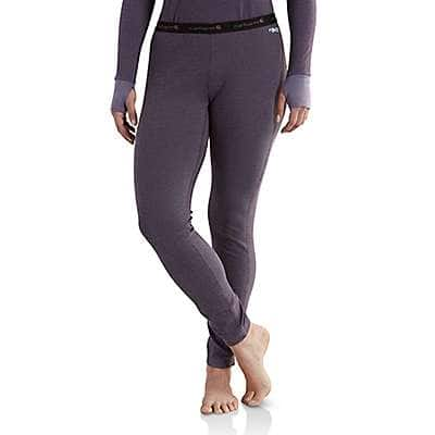 Carhartt Women's Plum Carhartt Base Force® Cold Weather Bottom - front