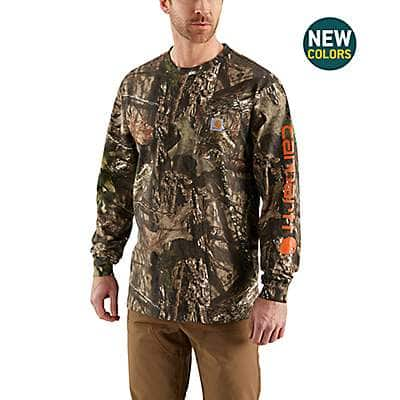 Carhartt Men's Mossy Oak Break-Up Country Workwear Graphic Camo Sleeve Long Sleeve T-Shirt - front