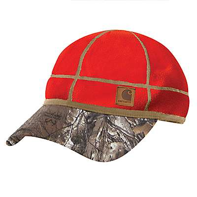 Carhartt Men's Brite Orange Carhartt Force® Griggs Fleece Visor Cap - front
